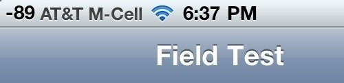iPhone 4 Field Test Mode in iOS 4.1
