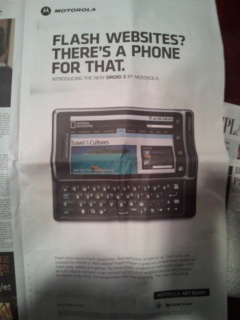 Motoroal Droid 2 Flash Ad There's a Phone for That