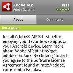 Adobe Air released to Android