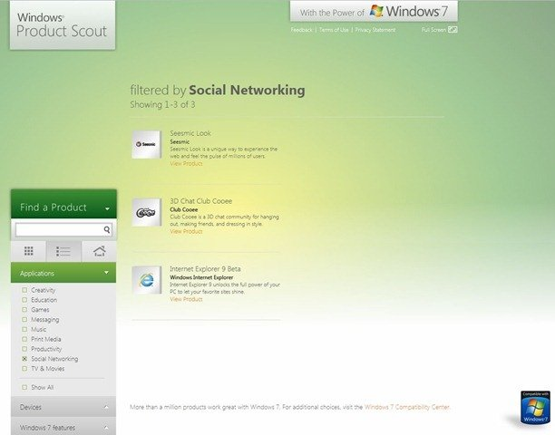 Windows Product Scout 2