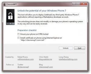 ChevronWP7 Jailbreak for WP7