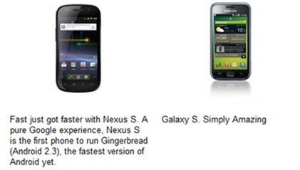 Nexus S vs Galaxy S