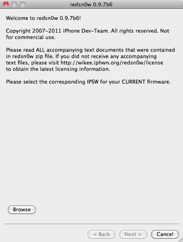 redsn0w 0.9.7b6 Jailbreak for iPhone iOS 4.2.1