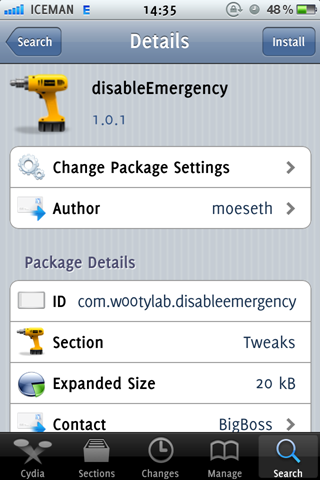 disableEmergency Cydia Jailbreak Tweak (1)