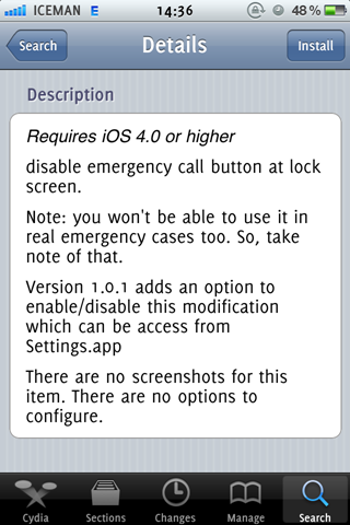 disableEmergency Cydia Jailbreak Tweak (2)
