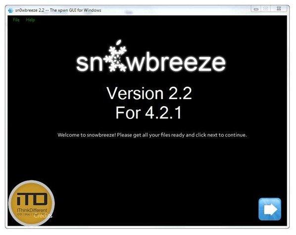 sn0wbreeze 2.2 -- The xpwn GUI for Windowswtmk