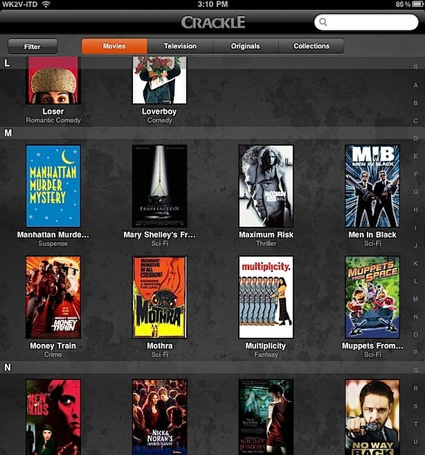 Crackle for iPhone/iPad Released! Spoiler: It's Awesome!
