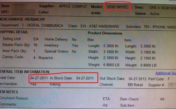 White iPhone 4 on Best Buy Shelves this Wednesday?