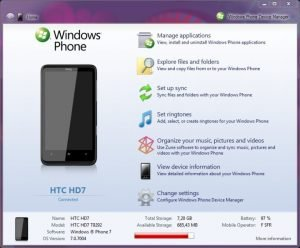 Windows Phone Device Manager Syncs Windows Phone 7 without Zune