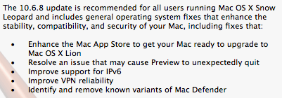 Mac OSX 10.6.8 update brings enhancements to Mac App Store to ready your Mac for Lion
