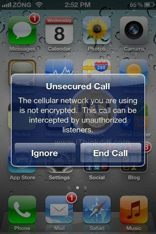 iOS 5 Hidden Feature Revealed, Unsecured Call Alert!