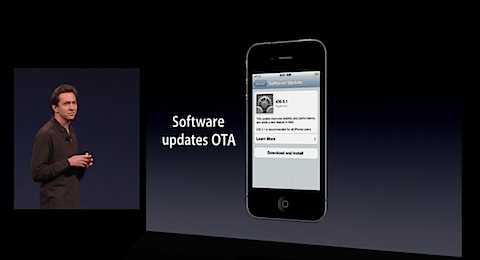 OTA updates for iOS 5 will be available over 3G!