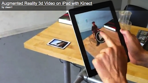 the team at LAAN Labs has created this application to take advantage of the Kinect Motion abilities and the iPad Tablet