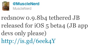 Jailbreak iOS 5 Beta 4 On iPhone 4 / 3GS, iPad & iPod Touch With Redsn0w 0.9.8b4 [Guide]
