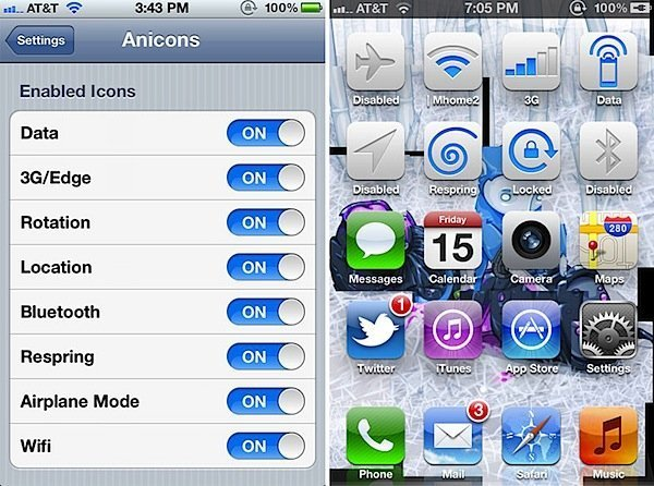 Download Anicons & Add Animated System Toggles To Your Homescreen!