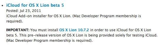 iCloud OS Lion Beta5