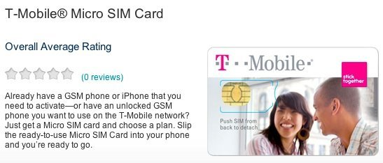 tmobile usa microsim