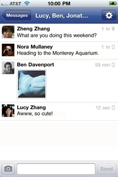 Facebook Releases Messenger App for iPhone, iPod and iPad