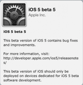 Download, Jailbreak & Activate iOS 5 Beta 5 on iPhone, iPod touch or iPad