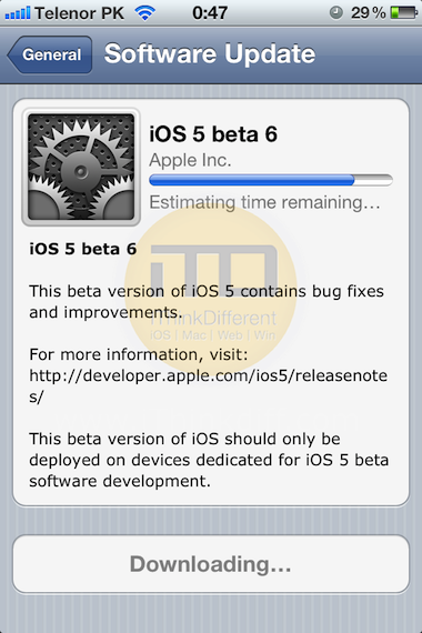 iOs5 beta 6 download install guide2iTD