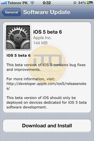 iOs5 beta 6 download install guideiTD