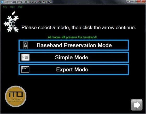 sn0wbreeze 2.8b5 for iOS 5 b5 6wtmk