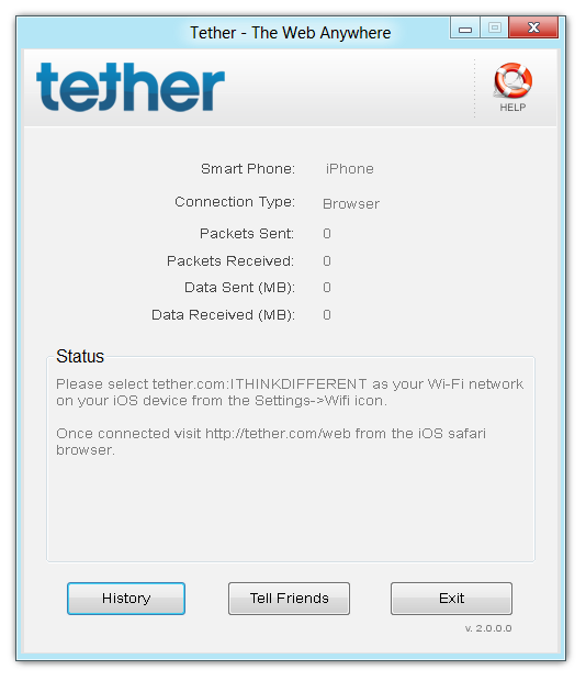 Tether - The Web Anywhere