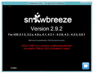 Jailbreak Tool sn0wbreeze 2.9.2 updated to support iOS 5.1 on non-A5 processor devices