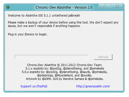 Chronic-Dev Absinthe - Version 2.0