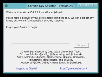 Chronic-Dev Absinthe - Version 2.0