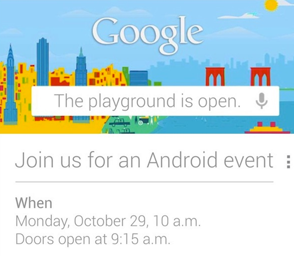 Google to Host Android Event on 29th October