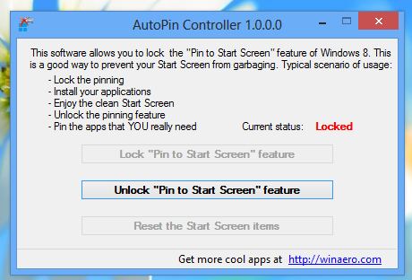 Disable Automatic Pinning Of New Apps to Start Screen in Windows 8