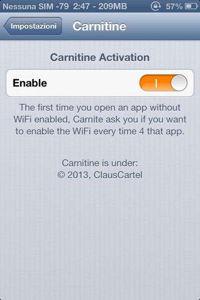 Carnitine for iPhone Cyda Tweak