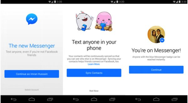 Facebook Launches New Redesigned Messenger App For Android 1