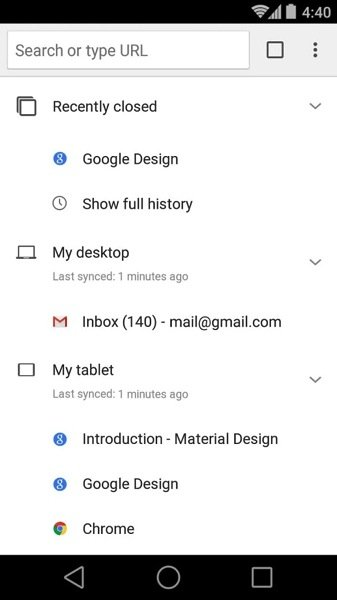 Google Chrome for Android Gets A Material Design Update 1