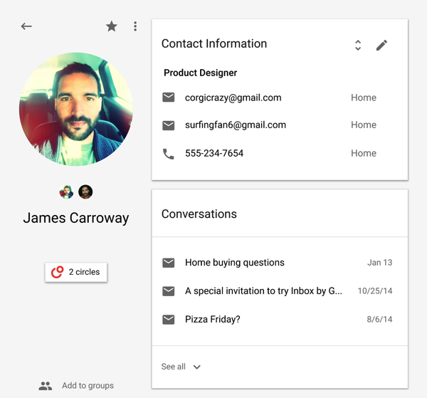 Google Contacts Preview With Material Design and Find Duplicates Feature Rolls Out