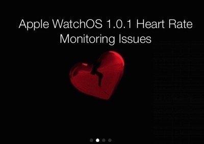 WatchOS 1 0 1 Has Messed Up Apple Watch Heart Rate Readings 1
