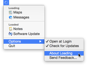 IOS Like Internet Loading Indicator App For Mac OS X