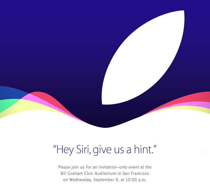 Apple's September 9th event invites go out