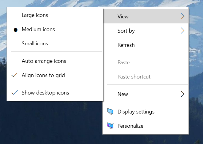 Windows 10 build 10532 context menus