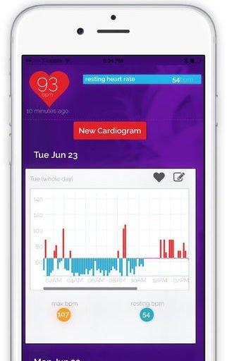 Cardiogram app iPhone