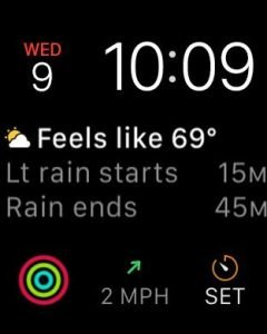 Carrot Weather WatchOS 2 app with complications