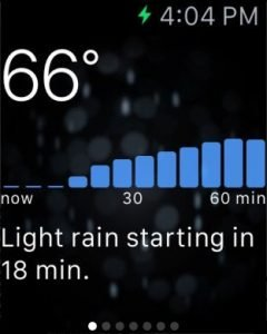 Dark Sky WatchOS 2 app with complications