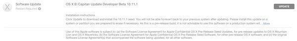 OS X 10.11.1 beta 2 for devs