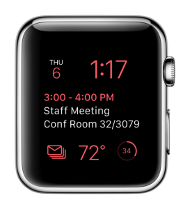Outlook WatchOS 2 app with complications
