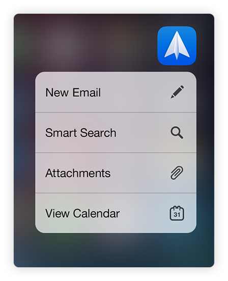 Spark 3D touch Spotligh Search