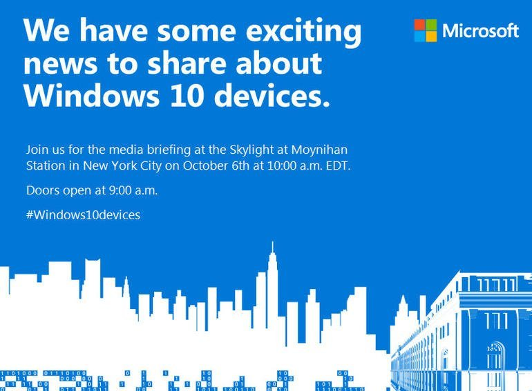 Windows 10 devices event October 6