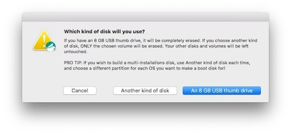 Create El Capitan bootable USB disk with DiskMaker X 2