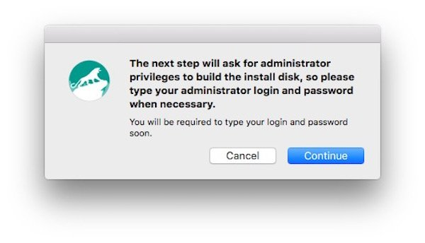 Create El Capitan bootable USB disk with DiskMaker X 5
