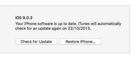 iOS 9.0.2 downgrade